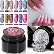 5ml Nail Art Glitter Gel Polish Set Platinum Painting Nails Poly UV Gellak Top Base Primer For Manicure