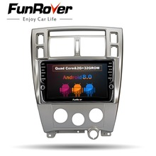 FUNROVER 2 din Мультимедиа gps android 8,0 dvd-плеер автомобиля для hyundai Tucson 2006-2014 Стерео навигация радио рекордер головного устройства