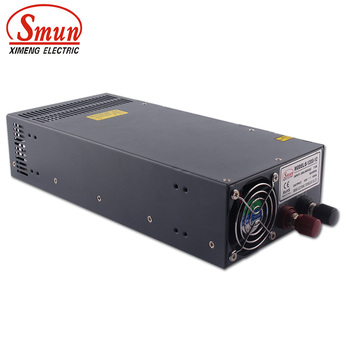 SMUN S-1200-12 110VAC/220VAC to 1200W 12V 100A Single Output Switching Power Supply with CE ROHS