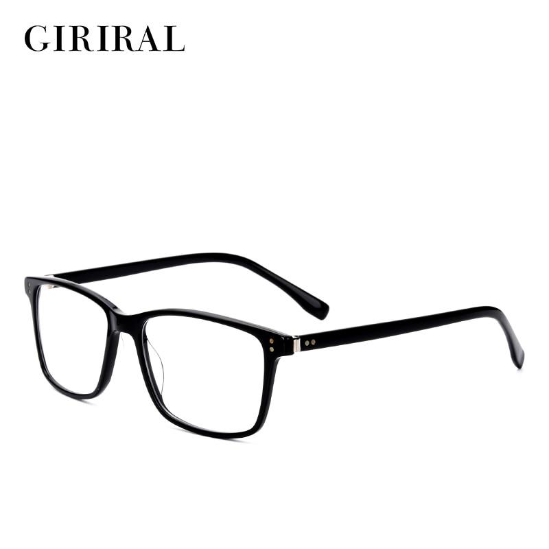 936d1329a60 Acetate men women eyeglasses frame retro brand myopia fashion luxury clear designer  optical transparent glasses frame