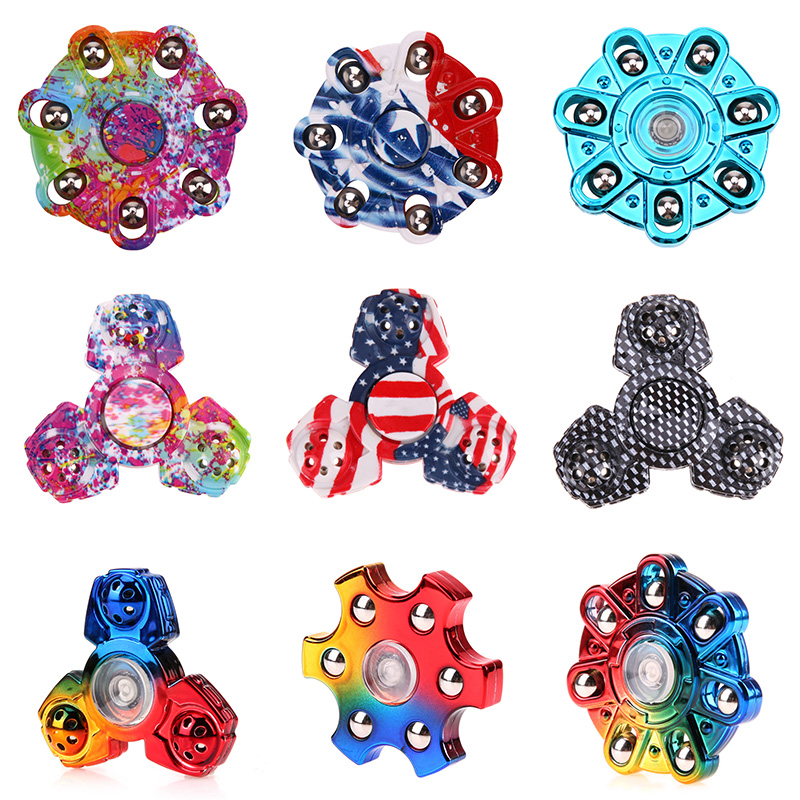 Newest Plating Fidget Spinner EDC Hand Spinner For Autism and ADHD Rotation Time Long Anti Stress Focus Toys Gift spinner fidget toy plastic edc hand spinner for autism and adhd rotation time long anti stress toys