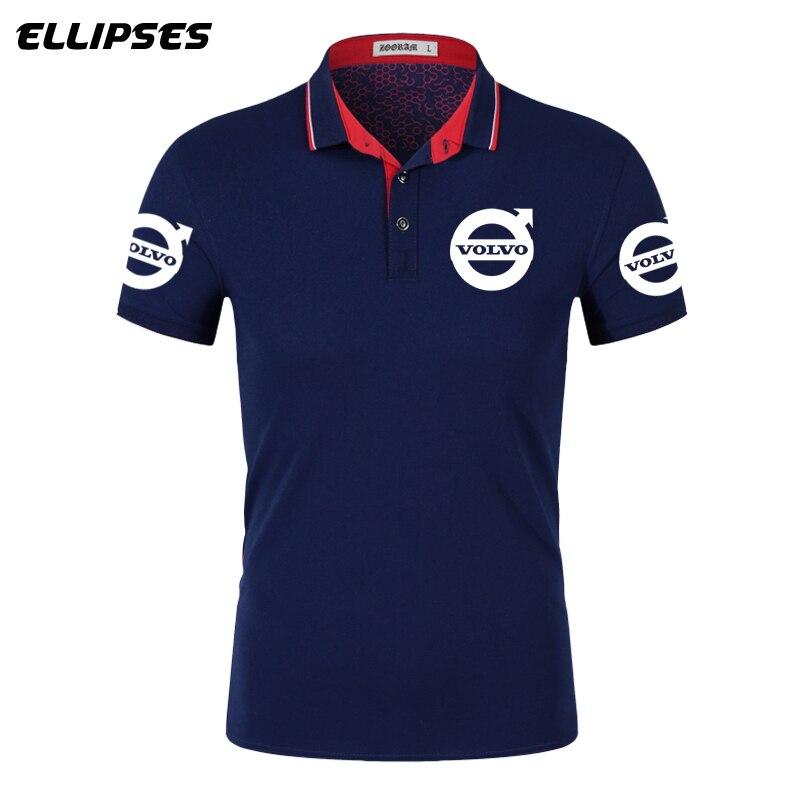 Volvo Car Polo Shirt For Man Summer Volvo Logo Polo Shirt Short Sleeve Male Cotton Turn-down Collar Tops Polo Shirt Men