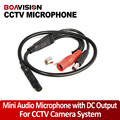 4Pcs Audio Pick Up CCTV Microphone Wide Range Camera Mic Audio Mini Microphone With DC Output for CCTV Security DVR