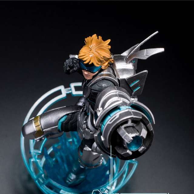 LOL League of Legends Figure Action Game Future Soldiers Izearil Big EZ Character Model Toy action-figure 3D Game Creative Gift  2