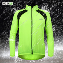 Ny Cykling Vattentät Pro Rain Coat Cykel Cykel Windproof Jacket Cycle Jersey Green