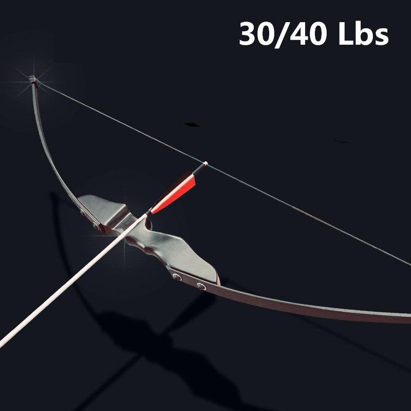 Arco recurvado profissional de 30/40lbs, para tiro ao alvo, para caça ao ar livre, pode usar flechas de carbono flecha