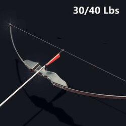 Professional Recurve โบว์ 30/40lbs สำหรับขวาโบว์ธนูยิงการล่าสัตว์กลางแจ้งสามารถใช้ลูกศรคาร์บอน arco e flecha