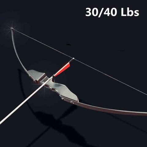 profissional arco recurvo 30 40lbs para destro tiro com arco ao ar livre caca pode