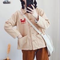 2019 New Winter Warm Thick Women Corduroy Jacket Lambs Wool Vintage Single Breasted With Pockets Coat Female Casaco Feminino