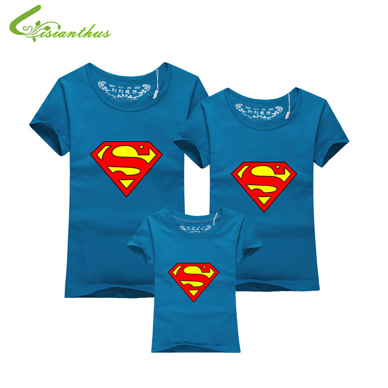 Family Matching Clothes Parent Kid Look Superman T Shirts