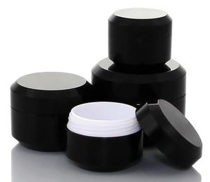 Image 1 - 10ชิ้นสีดำรอบครีมขวดขวดหม้อคอนเทนเนอร์เปล่าเครื่องสำอางพลาสติกตัวอย่างกล่องสำหรับเล็บเจลG Litterการจัดเก็บ