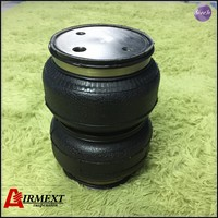 SN142187BL2 C/cross Airlift 5813 hollow Double convolut rubber airspring/airbag shock absorber/pneumatic part/air suspension