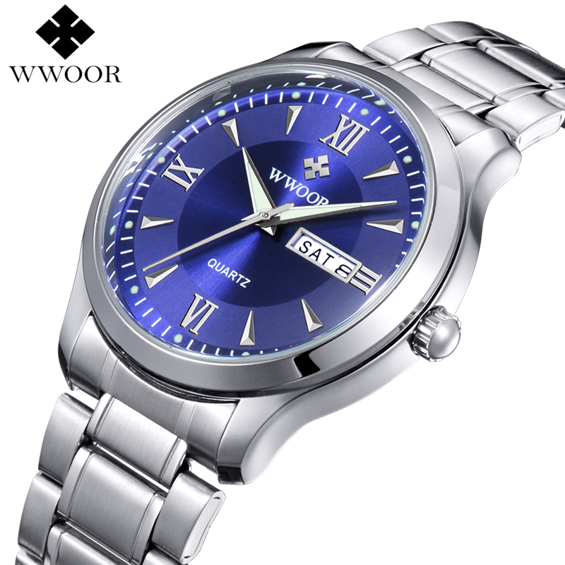 Luxury Brand Men Casual Quartz Watch Men Luminous Hour Date Clock Male Sports Watch Stainless Steel