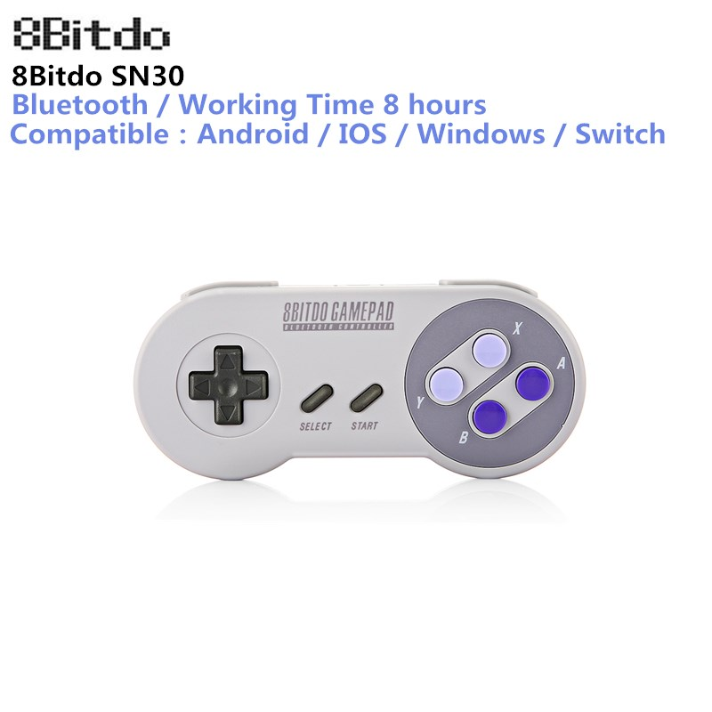 где купить 8Bitdo SN30 Gamepad Wireless Bluetooth Controller Dual Classic Joystick for iOS Android Gamepad PC Mac Linux PK FC30 Pro по лучшей цене