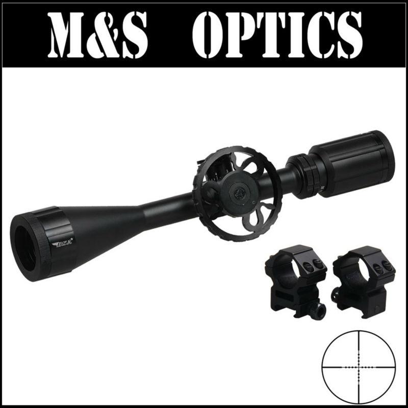 8-32x44 со тактический прицел Охота прицел оптический прицел с большой стороны колеса фокус + 11 мм / 20 мм кольцо крепления для охотника спорта