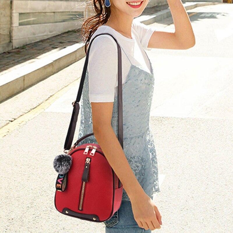 84.99usd Mini Multifunctional School Bag Travel Waterproof PU Backpack Female Girls Bag pu adjustable strap hat shaped girls mini bag