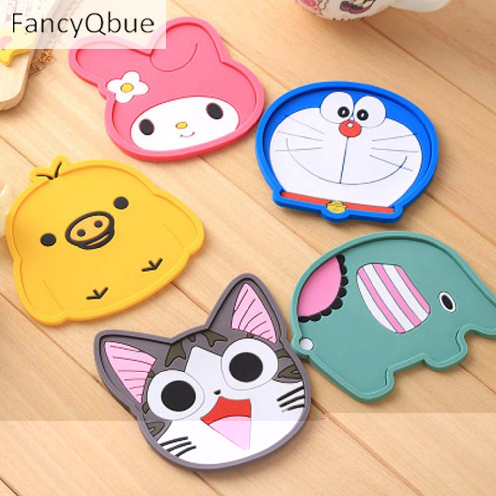1pcs Cartoon Animal Cute Rabbit Drink Pads Silicone Dining Table Placemat Coaster Kitchen Accessories Mat Cup Bar Mug The Latest Fashion Kitchen,dining & Bar