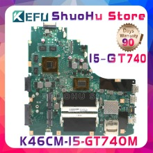 купить KEFU A46C For ASUS K46CM K46CB S46C A46C K46C CPU I5 GT740M laptop motherboard tested 100% work original mainboard дешево