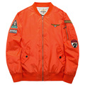 Men Bomber Flight Pilot Jacket Coat Nasa Navy Flying Jacket Military Air Force Embroidery Baseball Uniform Army Green Black