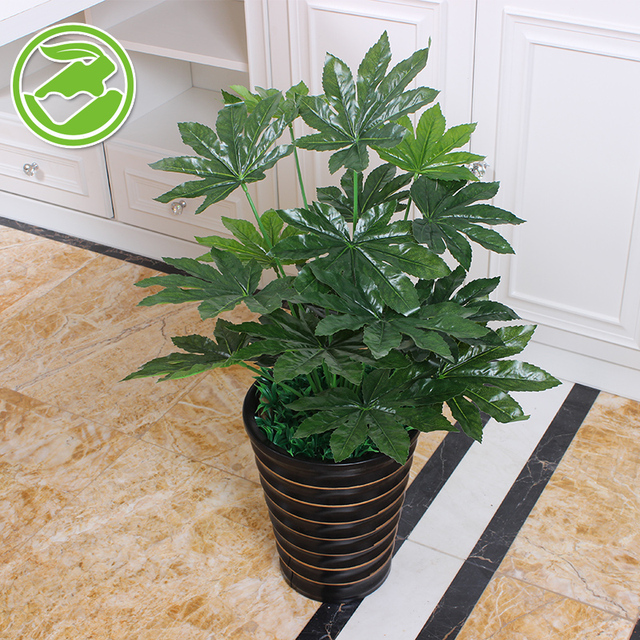 fake tree fatsia simulation plant tree plants potted bonsai hotel