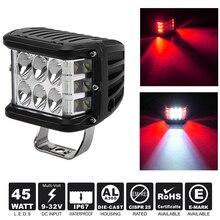 hot deal buy 45w led pods dually side shooter led cubes led work light bar off road lights 12v led work lights for jeep truck car