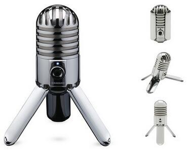 Конденсаторный микрофон Samson, студийный микрофон со складными ножками, кабелем USB и сумкой-переноской