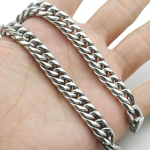 Boy's Men's Stainless Steel Link Chain Bracelet 16 Fashion Jewellery, Wholesale Free shipping, HB027 6