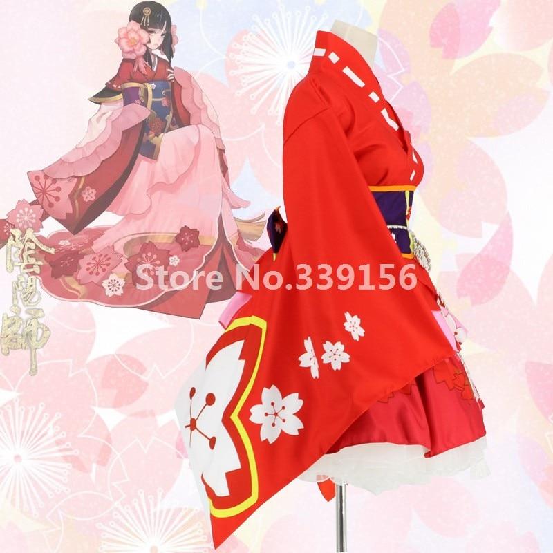 Imprimé Mode Femme Servante Rouge Robe Robes Cerise Lolita Kimono As Cosplay Costume Picture Japonais Mignon 354RAjLq