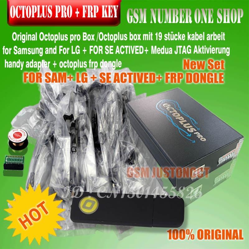 Octoplus Box Pro + Cavo + Adattatore Set (Attivato per Samsung + LG + eMMC/JTAG + Illimitato sony Ericsson + FRP Dongle