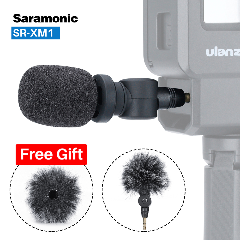 Saramonic SR XM1 3.5mm Wireless Omnidirectional Microphone Video Mic for GoPro Hero 7 6 5 DSLR DJI Osmo Action Osmo Pocket