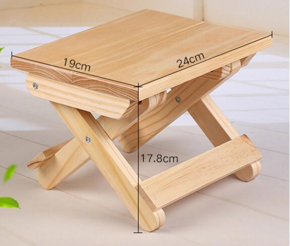 Solid wood folding stool Portable household Footstool campstoolSolid wood folding stool Portable household Footstool campstool
