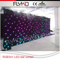 4x8m Starry sky lighting fiber optic Led star cloth with controller