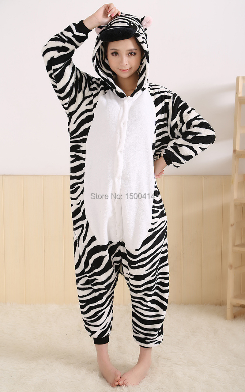 Animal Adult Costume Zebra Rompertjes Pyjama Halloween Carnaval - Carnavalskostuums - Foto 3