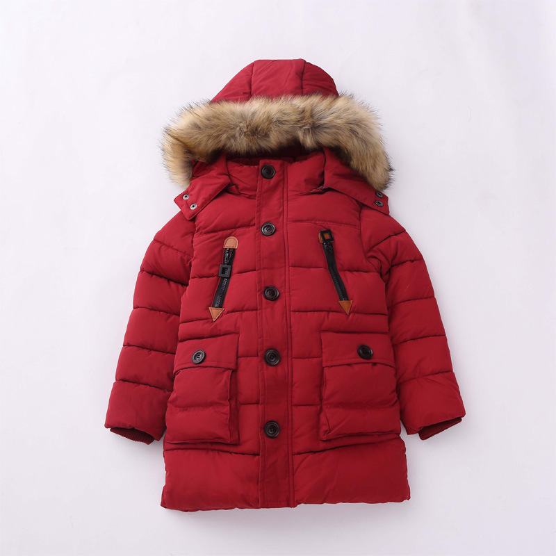 Thick boys long coat 2016 new fashion children winter warm jacket fur hooded kids outerwear cotton parka 7-15 years high quality boys winter jacket cotton padded fur collar hooded long kids outerwear coat thicken warm boy winter coat children clothing