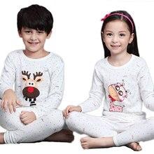 V-TREE Children's Pajamas Cartoon Boys Sleepwear Cotton Pyjamas Kids Sleepwear Teenager Pajama Sets Nightgown