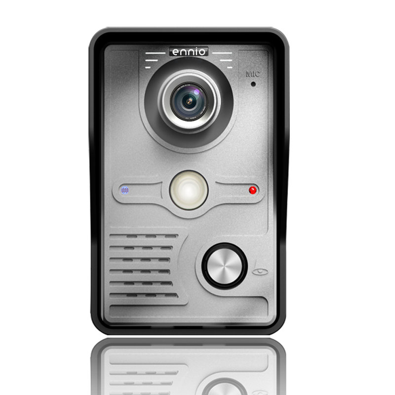 "Image 5 - FREE SHIPPING 10"" Inch Color Video Door Phone Doorbell Intercom Kit 1 camera 2 monitor Night Vision-in Video Intercom from Security & Protection"