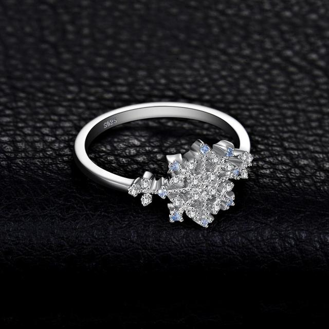 Blue Spinel Snowflake Ring