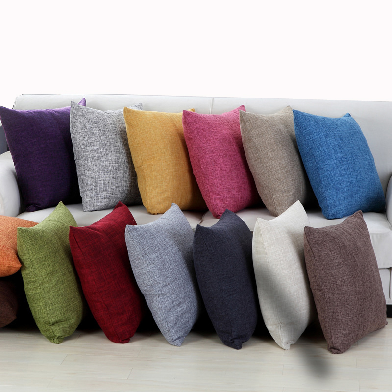 Solid color sofa cushion cover 30x50/40x40/45x45/40x60/<font><b>50x50</b></font>/55x55/60x60cm throw <font><b>pillow</b></font> <font><b>case</b></font> decorative <font><b>pillow</b></font> cover image