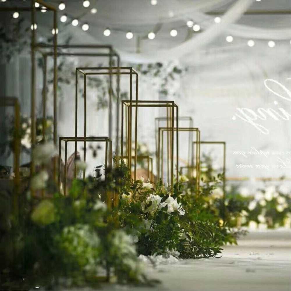 AliExpress & 4PCS Floor Vases Flowers Vase Column Stand Metal Pillar Road Lead Columns Wedding Table Centerpieces Rack Event Party Decoration