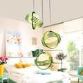 Country Green Pendant Light LED Suspension Luminaire Hanging Lamp Lamparas Colgantes Home Lighting Light Shade For Kitchen