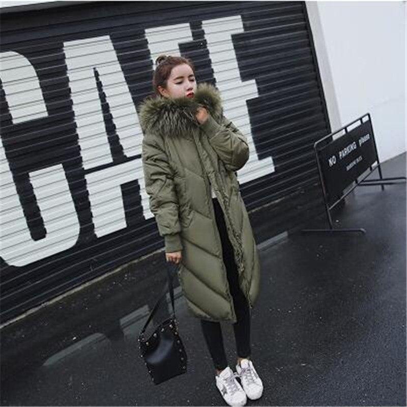 Green Noir Femme army camel 2713 Inverno Chaud Col Long Casaco Feminino Ouatée Manteau Vêtements 2018 Hiver Fourrure gris Qualité De Parka Veste Femmes 1wqgUp