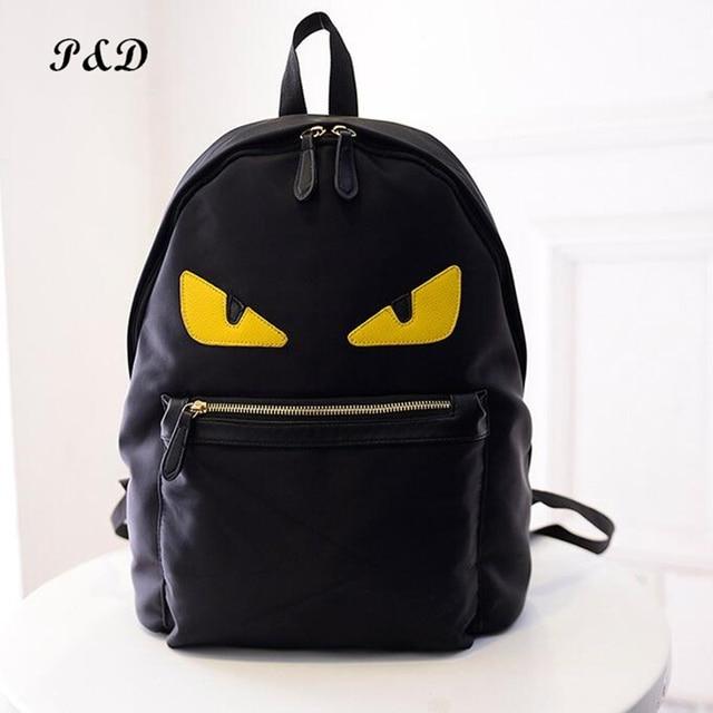 Famous Brand Nylon Backpacks High Capacity Eye Backpack Monster Bag Bugs School Bags For Agers