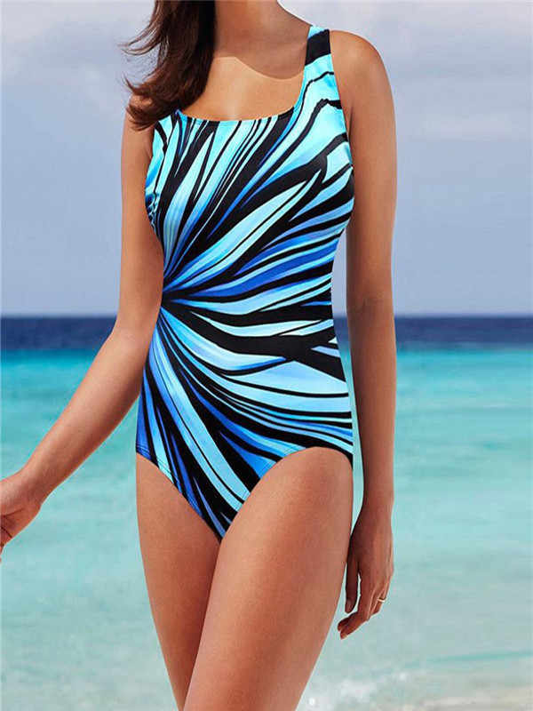 #Z45 2020 Sexy Plus Size Swimsuit Women One Piece Swimwear Female Vintage Push up Swimming for Monokini Big Size Bathing Suit