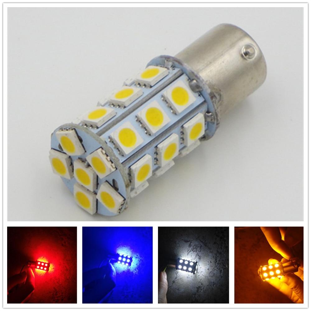 CYAN SOIL BAY 1156PY <font><b>BAU15S</b></font> <font><b>PY21W</b></font> 7507 27 SMD 5050 Amber Yellow White Red Blue Tail Turn Signal <font><b>LED</b></font> Light Bulbs 12V 24V