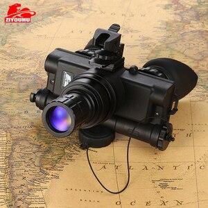 Image 2 - צבאי 2 דור HD הדמיה ראיית לילה משקפי ציד אופטיקה קסדה סוג IR לילה משקפת אופציונלי עדשת מותאם אישית
