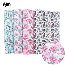 AHB Cartoon Faux Leather Sheets Synthetic Leather Bears Mermaid Printed For DIY Kids Hair Accessories Party Decor Materials цена и фото