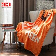 Плед с изображением тыквы на диван-кровать, украшение на Хэллоуин, мягкая теплая накладка, покрывала из плюшевого меха, бежевые одеяла для взрослых