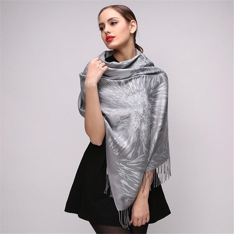 New Luxury Brand   Scarf   Winter Women   Scarf   Fashion Printing Shawls   Scarves   Best Quality Cotton   Scarf   Long Tassels Pashmina   Wraps