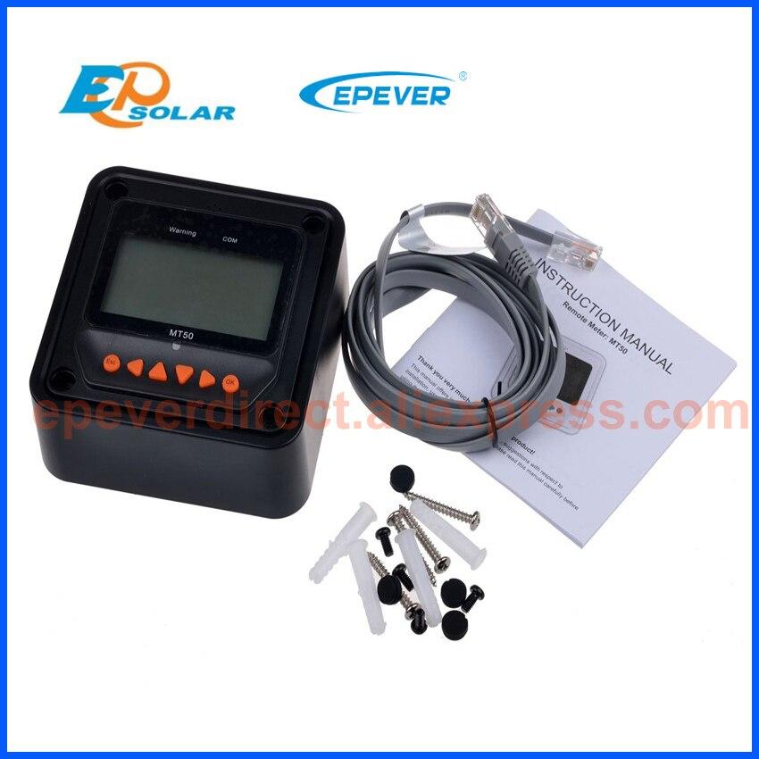 Función bluetooth caja teléfono APP Tracer2215BN 20A 20amp MPPT paneles solares MT50 y cable USB 12 V/24 V tipo de auto - 5