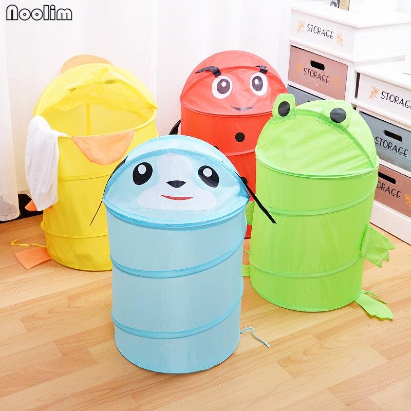 Cute Animal Collapsible Toy Storage Organizer Folding: NOOLIM Cute Cartoon Animal Basket Foldable Clothes Storage